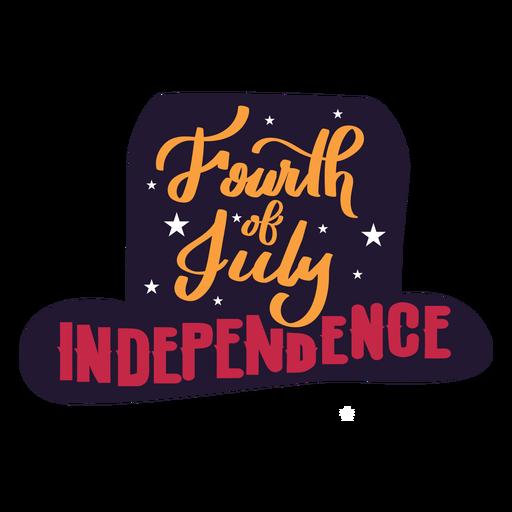Quarto de etiqueta do chapéu da estrela da independência de julho Transparent PNG