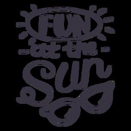 Divertido en la etiqueta de la insignia de gafas de sol de sol