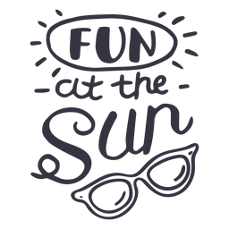 Fun at the sun sun glasses badge sticker