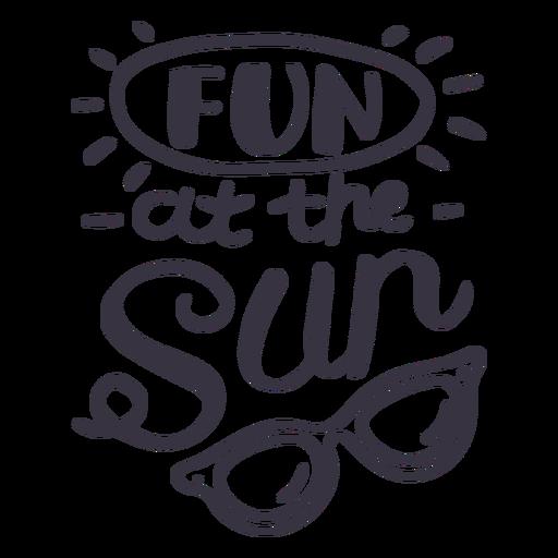 Divertido en la etiqueta de la insignia de gafas de sol de sol Transparent PNG