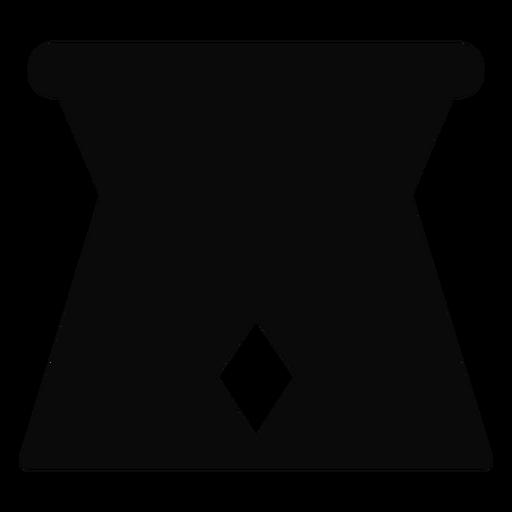 G jarro ficar silhueta detalhada Transparent PNG