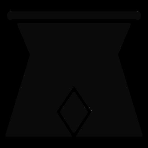 G stand jarro silhueta detalhada Transparent PNG