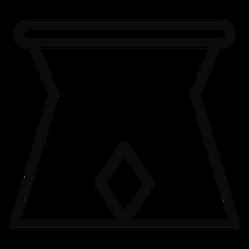 G stand jug stroke Transparent PNG