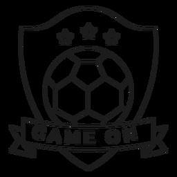Game on ball star badge stroke