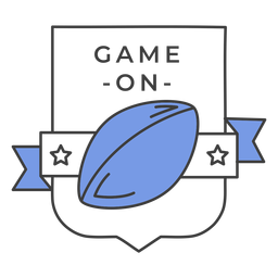 Game on ball star colored badge sticker