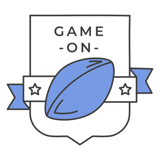 Game on ball star colored badge sticker Transparent PNG