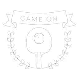 Game on tennis badge line