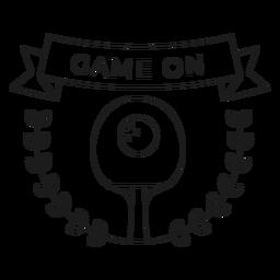 Game on tennis badge line