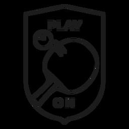 Juego en la raqueta de la pelota de tenis insignia trazo