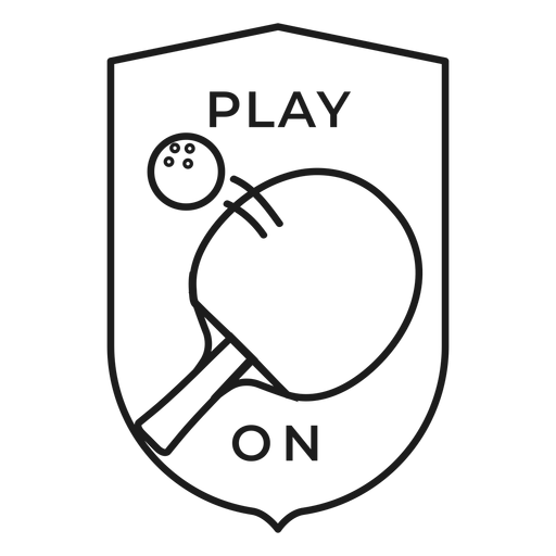 Game on tennis ball racket badge stroke Transparent PNG