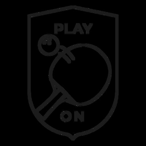 Jogo no traço de distintivo de raquete de bola de tênis Transparent PNG