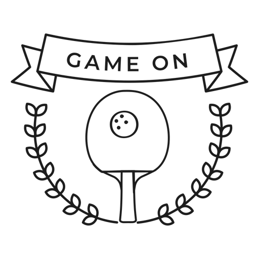 Game on tennis ball racket branch badge stroke Transparent PNG