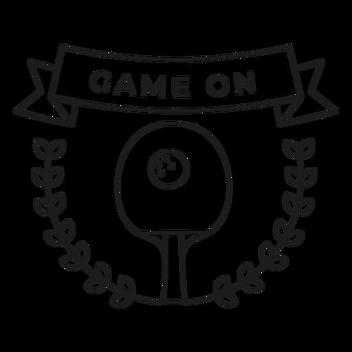 Juego de raqueta de pelota de tenis rama insignia de trazo Transparent PNG
