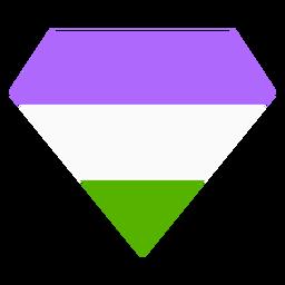 Genderqueer brilhante diamante tarja plana