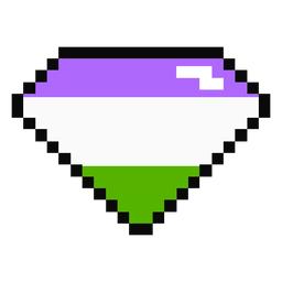 Genderqueer brilliant diamond stripe pixel flat