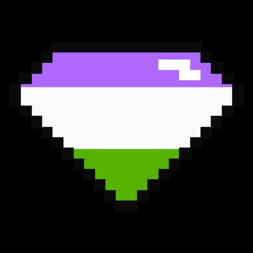 Genderqueer brilliant diamond stripe pixel flat Transparent PNG