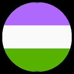 Genderqueer circle stripe flat
