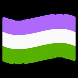 Faixa de bandeira Genderqueer plana