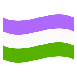 Genderqueer flag stripe flat