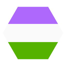 Faixa de hexágono Genderqueer plana