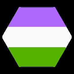 Raya hexagonal Genderqueer plana