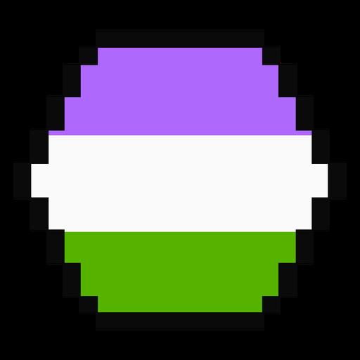Genderqueer Sechseck Streifen Pixel flach Transparent PNG