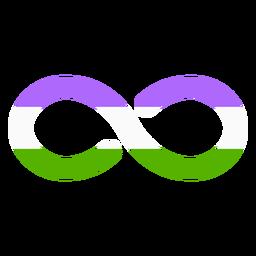 Genderqueer infinity stripe flat