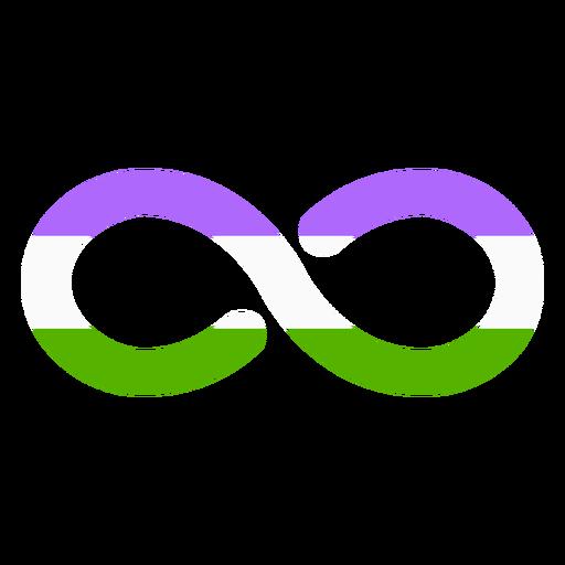 Genderqueer infinity stripe flat Transparent PNG