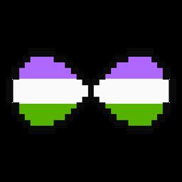Genderqueer infinity stripe pixel flat