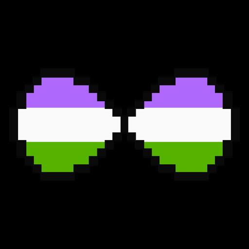 Genderqueer infinity stripe pixel flat Transparent PNG