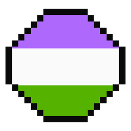 Genderqueer Achteck Streifen Pixel flach