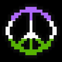 Genderqueer Pacific Stripe Pixel flach