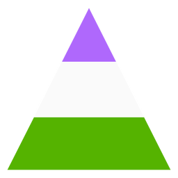 Faixa de triângulo Genderqueer plana