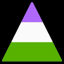 Raya de triángulo Genderqueer plana