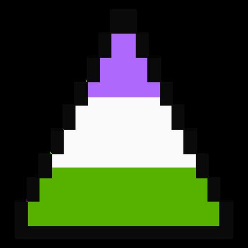 Genderqueer triangulo tarja pixel plano Transparent PNG