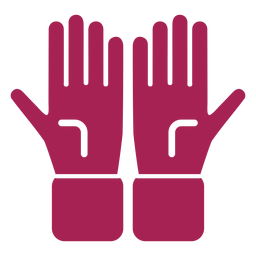 Glove hand finger palm detailed silhouette