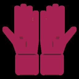 Luva mão dedo palma silhueta detalhada