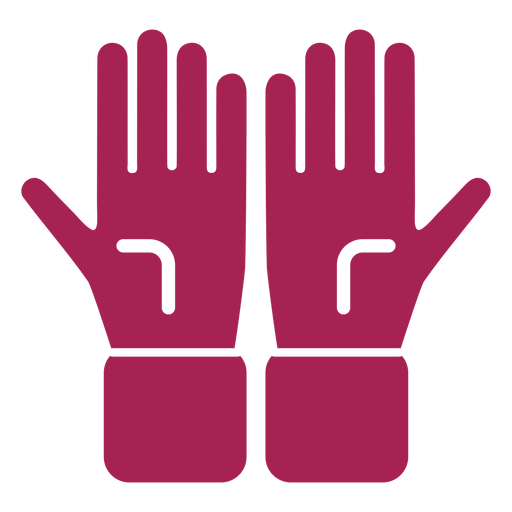 Glove hand finger palm detailed silhouette Transparent PNG