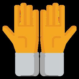 Guante mano dedo palma plano