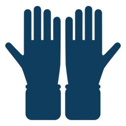 Glove hand finger palm silhouette