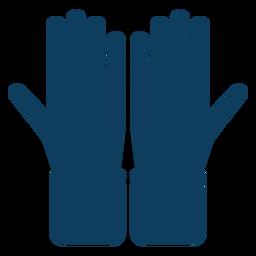 Guante mano dedo palma silueta