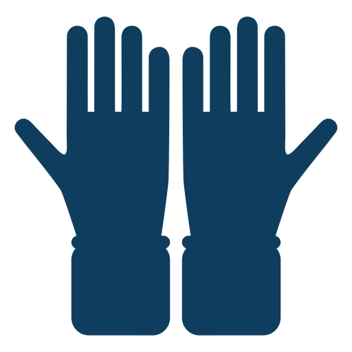 Glove hand finger palm silhouette Transparent PNG