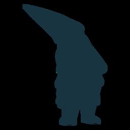 Silhueta de pigmeu de barba gnomo