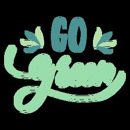 Etiqueta engomada de la placa verde de Go Go