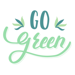 Go green leaf badge sticker
