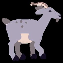 Cuerno de cabra cola de pezuña redondeada plana