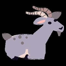 Pata de cabra con cola enganche redondeado plano.