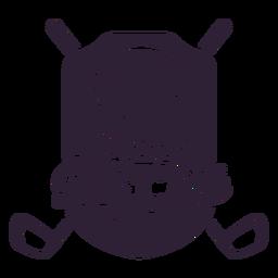 Etiqueta do emblema do clube da bola do país do clube de golfe