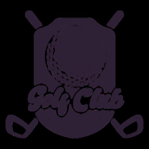 Etiqueta engomada de la insignia del club de pelota de campo del club de golf