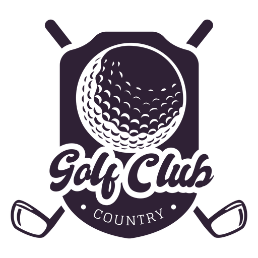 Pegatina de la insignia del club de la bola del país del club de golf Transparent PNG